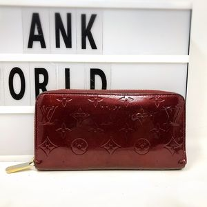 Louis Vuitton Zippy Vernis Monogram Long Wallet